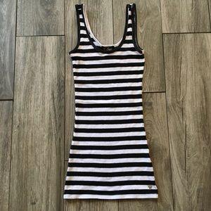 G by Guess Black/White Striped Tank Top - XS